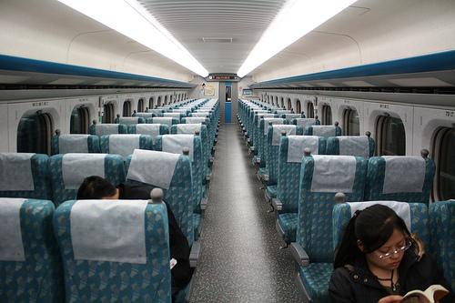 台湾の新幹線の中は日本と同じ