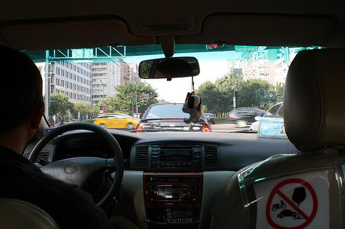 松山空港にタクシーを飛ばす