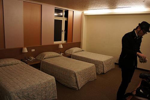 YMCAホテルの部屋